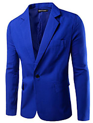 cheap -men's work blazer-solid colored shirt collar
