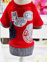 cheap -Rodents / Dogs / Cats Sweatshirt Dog Clothes Other / Character Gray / Red Cotton Costume For Pets Female Braided / Cord / Cute