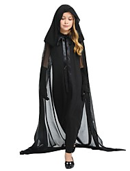 cheap -Cosplay Costume Girls' Halloween / Carnival / Children's Day Festival / Holiday Halloween Costumes Black Solid Colored / Halloween Halloween