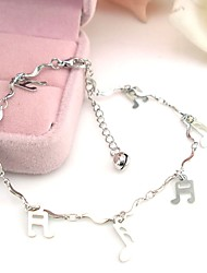 cheap -Classic / Stylish Ankle Bracelet - Creative, Music Notes Classic, Vintage, Fashion Silver For Daily / Going out / Women's