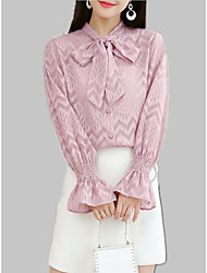 cheap -Women's Shirt - Solid Colored Lace up