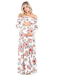 abordables -Mujer Básico / Elegante Recto Vestido Floral Maxi