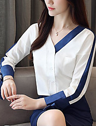 cheap -Women's Vintage / Basic Blouse - Solid Colored Tassel