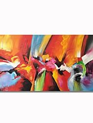 Недорогие -Hang-роспись маслом Ручная роспись - Абстракция Современный / Modern холст