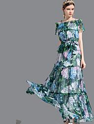 baratos -Mulheres Básico balanço Vestido Floral Longo