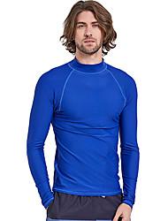 cheap -SBART Men's Diving Rash Guard SPF50, UV Sun Protection, Quick Dry Nylon Long Sleeve Swimwear Beach Wear Sun Shirt / Top Solid Colored Diving
