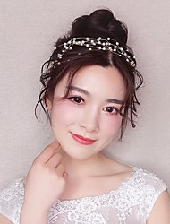 cheap -Beaded Headbands with Lace-up 1 Piece Wedding / Special Occasion Headpiece