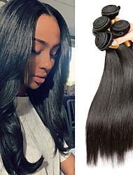 tanie -Włosy naturalne remy Splot włosów Najwyższa jakość / Nowy przyjazd / Gorąca wyprzedaż Prosto Włosy malezyjskie Średniej długości 400 g 1 rok Na co dzień / Wesele / Quinceañera i Słodka szesnastka