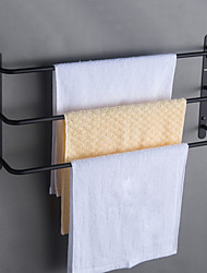 cheap -Rustproof SUS304 Stainless Steel Silky Matte Black Finished Bathroom Accessories Set Wall Mounted or Nail-Free Multilayer Towel Bar Three Bars 45cm WY003HEI