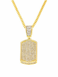 cheap -Men's Cubic Zirconia Classic / Stylish Pendant Necklace / Chain Necklace - Creative, Precious Stylish, Luxury, Hip-Hop Gold, Silver 60 cm Necklace 1pc For Carnival, Street