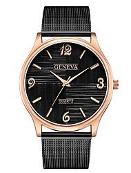 abordables -Geneva Mujer Reloj de Pulsera Chino Nuevo diseño / Reloj Casual / Cool Aleación Banda Casual / Moda Negro / Plata
