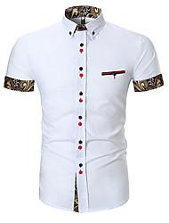 Недорогие -мужская рубашка - геометрический воротник рубашки