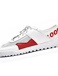 cheap -Men's PU(Polyurethane) Summer Comfort Sneakers Color Block Red / Black / White