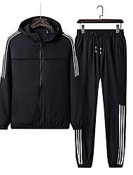 abordables -Hombre Sudadera / Activewear - Estampado, Un Color / A Rayas