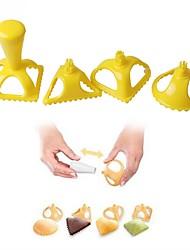 Недорогие -4шт пельмени плесени пищевого качества пластмассы 4 формы клецки пресс инструмент кухонный гаджет