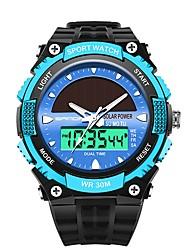 Недорогие -SANDA Муж. Спортивные часы электронные часы Японский Цифровой 30 m Защита от влаги Календарь Хронометр Plastic Группа Аналого-цифровые Роскошь Мода Черный - Красный Синий Золотистый / Фаза луны