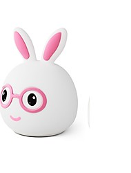 cheap -1pc Rabbit LED Night Light Color-changing AAA Batteries Powered For Children / Dimmable 5 V