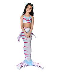 cheap -The Little Mermaid Swimwear / Bikini / Costume Girls' Halloween / Carnival Festival / Holiday Halloween Costumes Fuchsia Mermaid Vintage