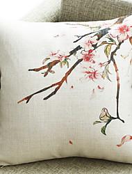 cheap -1 pcs Cotton / Linen Pillow, Floral Print Flower