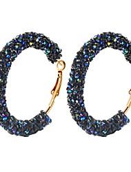 Недорогие -1 пара Жен. Веревка Серьги-кольца Серьги, обнимающие мочку уха - пончики Дамы Простой Бижутерия Белый / Черный / Темно-синий Назначение Повседневные