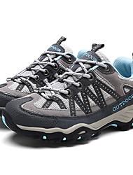 Недорогие -Жен. Обувь Кожа / Эластичная ткань Наступила зима Удобная обувь Спортивная обувь Для пешеходного туризма На плоской подошве Черный / Лиловый / Светло-синий