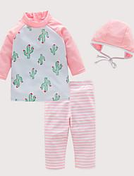 baratos -Infantil Para Meninas Floral Roupa de Banho