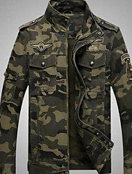cheap -Men's Jacket - Camouflage Stand / Long Sleeve