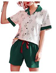 cheap -Women's Turtleneck Suits Pajamas Solid Colored