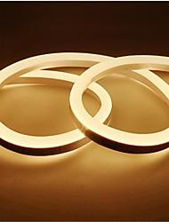abordables -1m Bandes Lumineuses LED Flexibles 120 LED 2835 SMD Blanc Chaud / Blanc / Jaune Imperméable / Découpable / Décorative 12 V 1pc