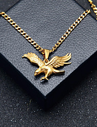cheap -Men's Stylish / Cuban Link Pendant Necklace / Chain Necklace - Stainless Eagle Stylish, European, Hip-Hop Cool Gold 60 cm Necklace Jewelry 1pc For Gift, Street