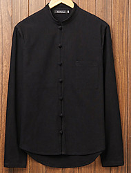 abordables -chemise pour hommes - stand de couleur solide