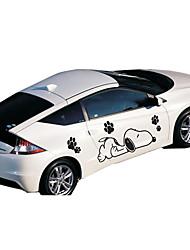 Недорогие -Белый / Черный Автомобильные наклейки Мультяшная тематика Дверные наклейки Мультипликация Стикеры