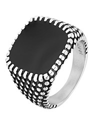 cheap -Men's Sculpture Band Ring - Stainless Steel Punk, Trendy, Hip-Hop 8 / 9 / 10 Black For Daily / Street
