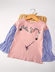 preiswerte -Kinder Mädchen Blumen Langarm Bluse