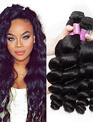 Недорогие -4 Связки Бразильские волосы Свободные волны Натуральные волосы Подарки Человека ткет Волосы Уход за волосами 8-28 дюймовый Естественный цвет Ткет человеческих волос Машинное плетение