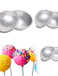 baratos -Ferramentas bakeware Alumínio Multi funções / 3D / Faça Você Mesmo Para Gelado / em botão Redonda Moldes de bolos 6pcs