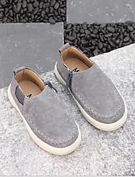 baratos -Para Meninos / Para Meninas Sapatos Pele Primavera Conforto Mocassins e Slip-Ons Cadarço para Cinzento / Vermelho / Verde