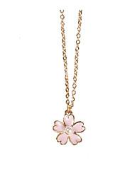 preiswerte -Damen Stilvoll Anhängerketten / Charm Halskette - Blume Romantisch, Süß lieblich Rosa 46 cm Modische Halsketten Schmuck 1pc Für Verabredung, Valentinstag