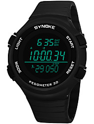 cheap -SYNOKE Men's Sport Watch / Digital Watch Calendar / date / day / Chronograph / Water Resistant / Water Proof PU Band Fashion Black / Grey / Navy / Stopwatch / Noctilucent