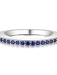 billige -Dame Kvadratisk Zirconium Stilfuldt Ring - Koreansk 6 / 7 / 8 Blå Til Daglig / Stævnemøde