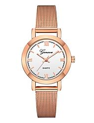 abordables -Geneva Mujer Reloj de Pulsera Chino Nuevo diseño / Reloj Casual / Cool Aleación Banda Casual / Moda Negro / Oro Rosa / Un año