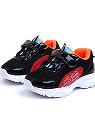abordables -Chica Zapatos Malla / PU Primavera verano Confort Zapatillas de Atletismo Paseo Cinta Adhesiva para Bebé Blanco / Negro