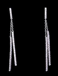 cheap -Women's Cubic Zirconia Stylish Stud Earrings / Drop Earrings - Simple, Fashion White For Wedding / Daily