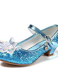 cheap -Girls' Shoes PU(Polyurethane) Spring & Summer Flower Girl Shoes Heels Crystal / Sequin for Kids / Teenager Silver / Blue / Pink