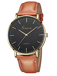 cheap -Geneva Women's Wrist Watch Quartz New Design Casual Watch Cool Leather Band Analog Casual Fashion Black / Brown - Gold / Brown Rose Gold / White Black / Rose Gold One Year Battery Life