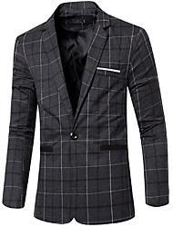 cheap -Men's Work Blazer - Spots & Checks / Long Sleeve