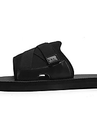 cheap -Men's Knit / Cotton Summer Comfort Slippers & Flip-Flops Black