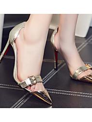 Недорогие -Жен. Обувь Наппа Leather Лето Удобная обувь Обувь на каблуках На шпильке Золотой / Черный / Красный