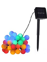 cheap -4.6m String Lights 20 LEDs Dip Led Warm White / Multi Color Solar / Decorative Solar Powered 1pc