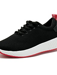 cheap -Women's Shoes Mesh Spring Comfort Athletic Shoes Running Shoes Flat Heel Round Toe White / Black / Pink
